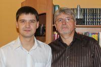 Иван Расторгуев с руководителем центра